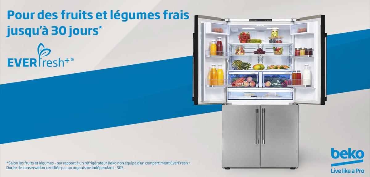 Réfrigérateur Everfresh conservation légumes fruits longue durée