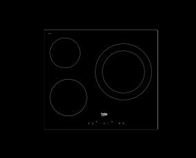 Table de cuisson encastrable HIC63403BT Beko