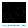 Table de cuisson encastrable Puissance totale 5900 W
