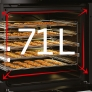 Cuisson Encastrable Volume utile 71 L