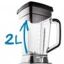 Blender sous vide Bol en Tritan gradué de 2 litres