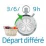 Lave-linge Départ différé 3-6-9 heures
