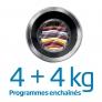 Lavante-séchante Programmes enchaînés 4+4kg