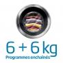 Lavante-séchante Programmes enchaînés 6+6kg