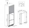 Réfrigérateur / Congélateur encastrable BLSA210M3SN Beko