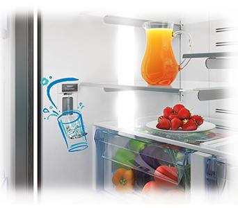 frigo distributeur eau glacon