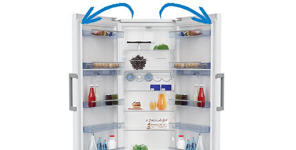 frigo porte reversible