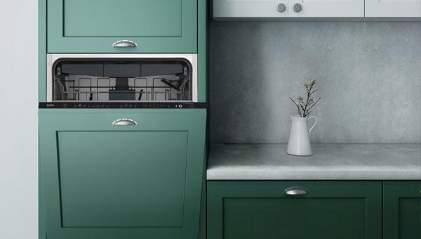 Lave-vaisselle installé en hauteur pour plus de fléxibillité
