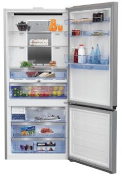 Réfrigérateur combiné ouvert