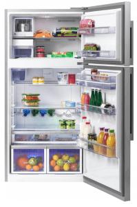 Réfrigérateur double porte ouvert